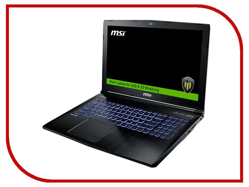 Ноутбук MSI WE62 7RI-1881RU 9S7-16J572-1881 (Intel Core i7-7700HQ 2.8 GHz/16384Mb/1000Gb + 128Gb SSD/DVD-RW/nVidia Quadro M1200 4096Mb/Wi-Fi/Bluetooth/Cam/15.6/1920x1080/Windows 10 Pro 64-bit) патрон 7 62 54