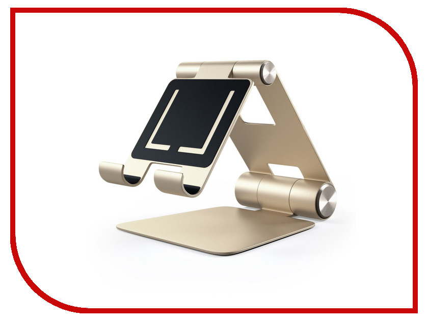 Аксессуар Подставка Satechi R1 Aluminum Hinge Holder Foldable Stand для APPLE iPad Gold ST-R1G аксессуар док станция для hdd satechi aluminum usb 3 0 sata iii hdd ssd docking station b00s717jh6 st u3ads