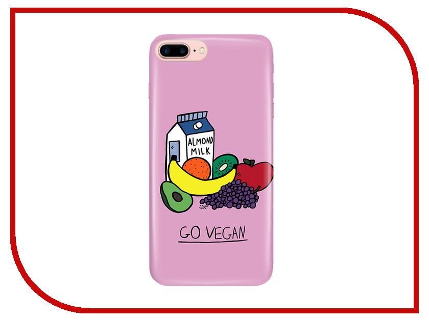 Аксессуар Чехол With Love. Moscow для Apple iPhone 7 Plus / 8 Plus Go Vegan 2076 чехлы для телефонов with love moscow силиконовый дизайнерский чехол для meizu m3s перья