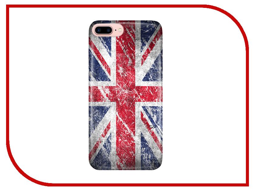 Аксессуар Чехол With Love. Moscow для Apple iPhone 7 Plus / 8 Plus British Flag 2087 чехлы для телефонов with love moscow силиконовый дизайнерский чехол для meizu m3s перья