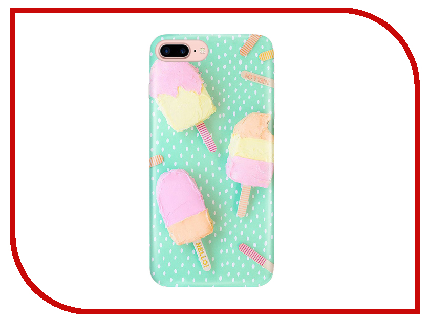 Аксессуар Чехол With Love. Moscow для Apple iPhone 7 Plus / 8 Plus Ice Cream 2 2108 ice cream style usb 2 0 flash drive disk brown dark grey 4gb