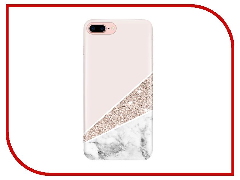 Аксессуар Чехол With Love. Moscow для Apple iPhone 7 Plus / 8 Plus Marble 2109 чехлы для телефонов with love moscow силиконовый дизайнерский чехол для meizu m3s перья