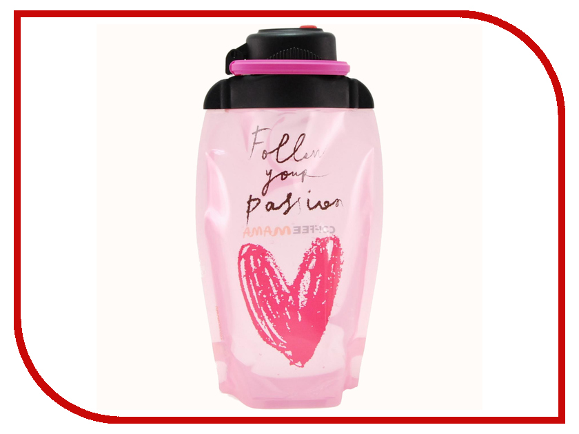 Бутылка VITDAM 500ml Annual Pink поильники vitdam складная эко бутылка с карабином 860 мл