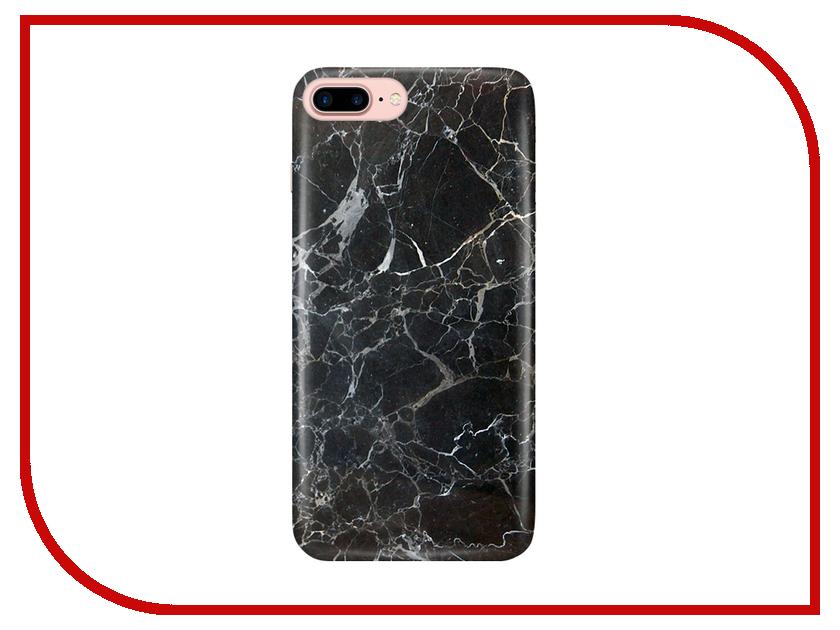 Аксессуар Чехол With Love. Moscow для Apple iPhone 7 Plus / 8 Plus Black Marble 2128 подставка для поваренной книги cook with love black 15091 1009113