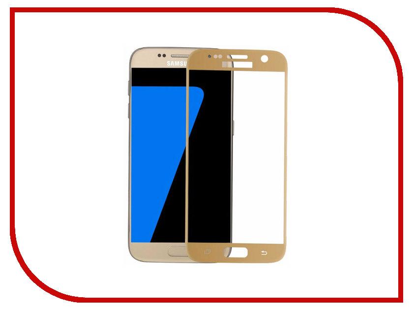 Аксессуар Защитное стекло Samsung Galaxy S7 G930F Svekla 3D Gold Frame ZS-SVSG930F-3DGOLD zs svlgk350e svekla