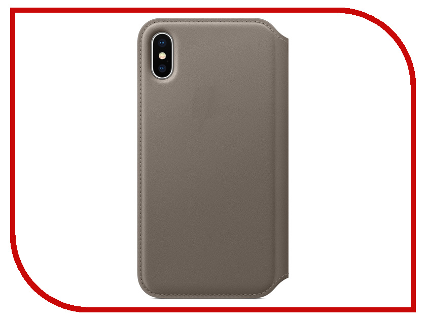 Аксессуар Чехол APPLE iPhone X Leather Case Folio Taupe MQRY2ZM/A аксессуар чехол apple iphone x leather case cosmos blue mqth2zm a