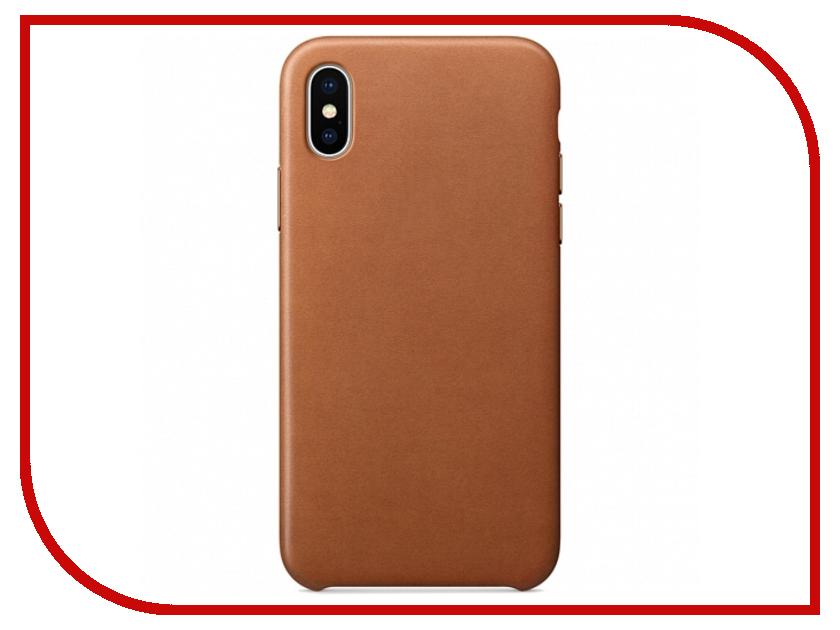 Аксессуар Чехол APPLE iPhone X Leather Case Saddle Brown MQTA2ZM/A аксессуар чехол apple iphone se leather case black mmhh2zm a
