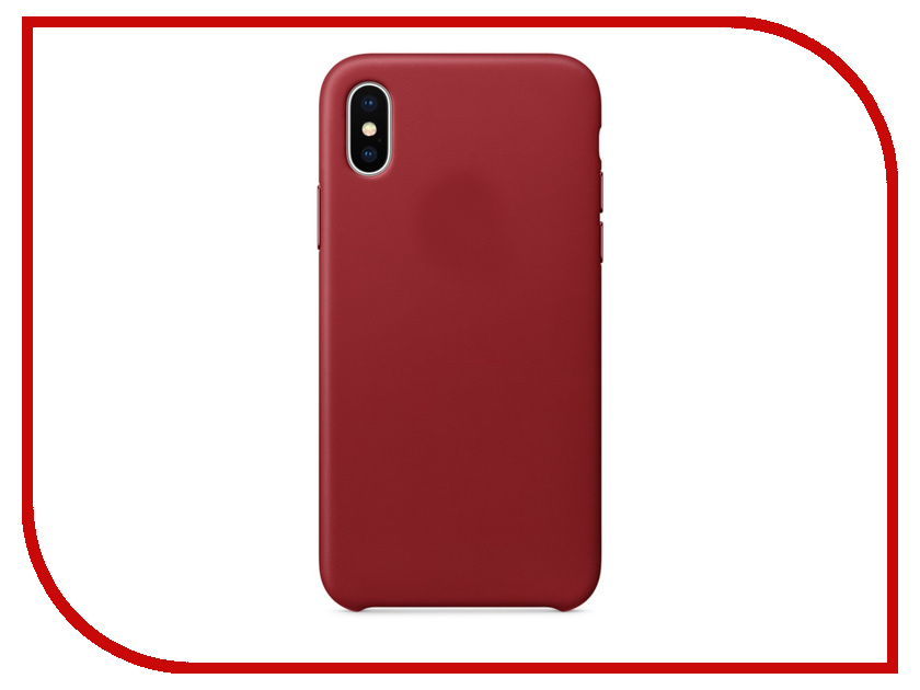Аксессуар Чехол APPLE iPhone X Leather Case Product Red MQTE2ZM/A genuine leather 11 card slots detachable wallet case for iphone x