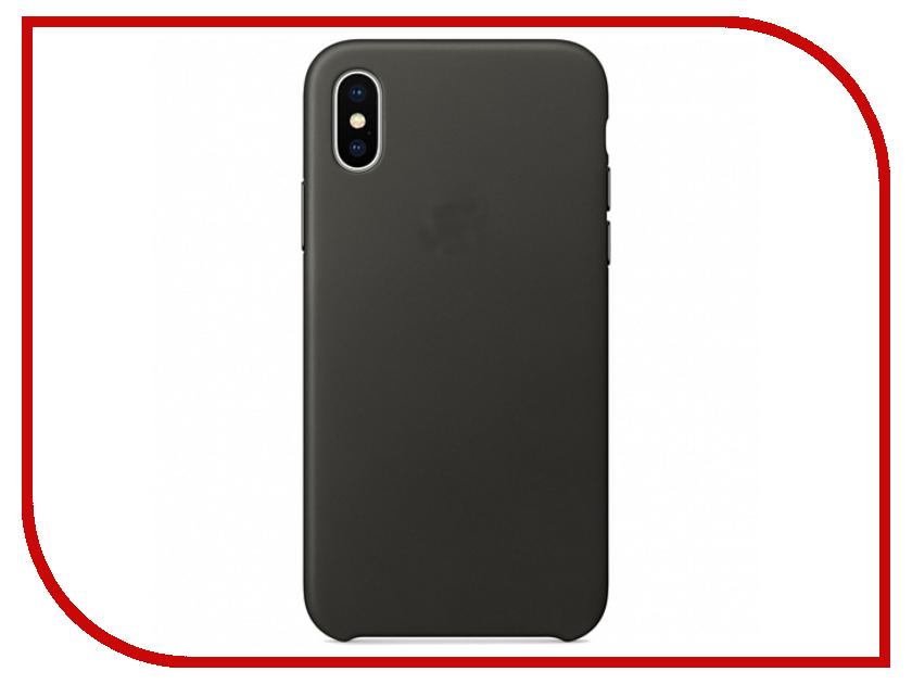 Аксессуар Чехол APPLE iPhone X Leather Case Charcoal Gray MQTF2ZM/A аксессуар чехол apple iphone se leather case black mmhh2zm a