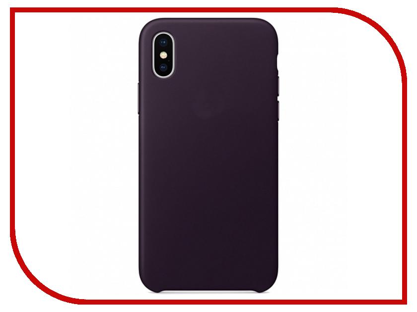 Аксессуар Чехол APPLE iPhone X Leather Case Dark Aubergine MQTG2ZM/A аксессуар чехол apple iphone se leather case black mmhh2zm a