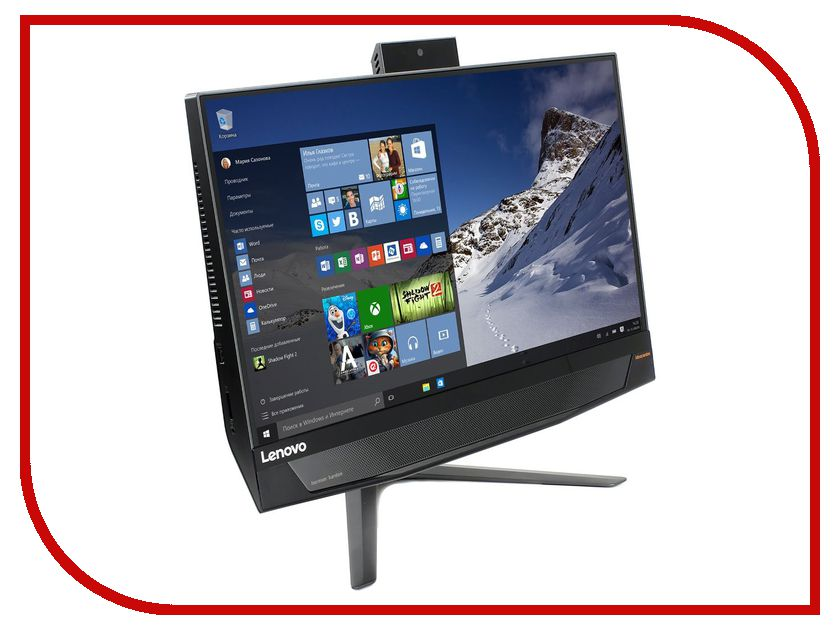 Моноблок Lenovo IdeaCentre AIO 720-24IKB Black F0CM0016RK (Intel Core i7-7700 3.6 GHz/8192Mb/1000Gb/No ODD/nVidia GeForce GTX 960A 2048Mb/Wi-Fi/Bluetooth/Cam/23.8/1920x1080/Windows 10 Home 64-bit)