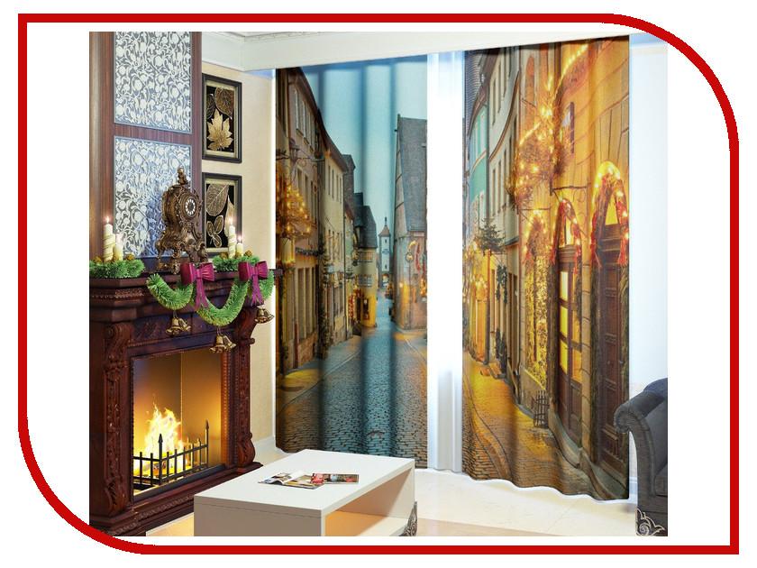 Комплект штор Сирень Рождественская улица 145x260cm 2601816