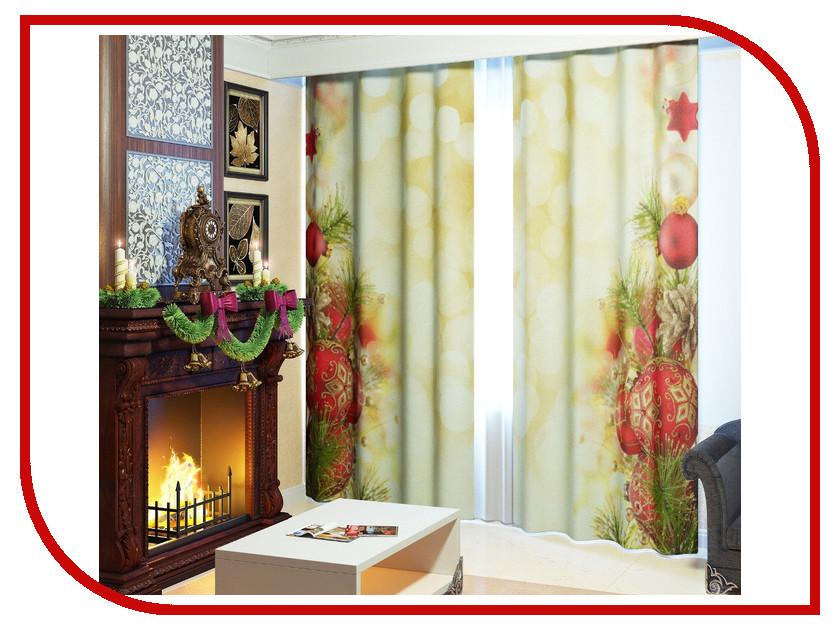 Комплект штор Сирень Новогодний декор №5 145x260cm 2601824