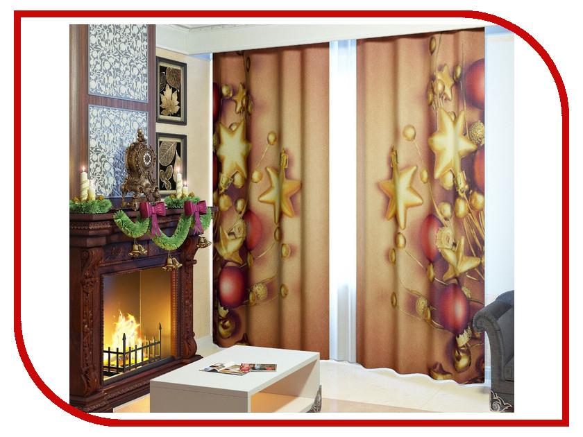 Комплект штор Сирень Новогодний декор №3 145x260cm 2601822