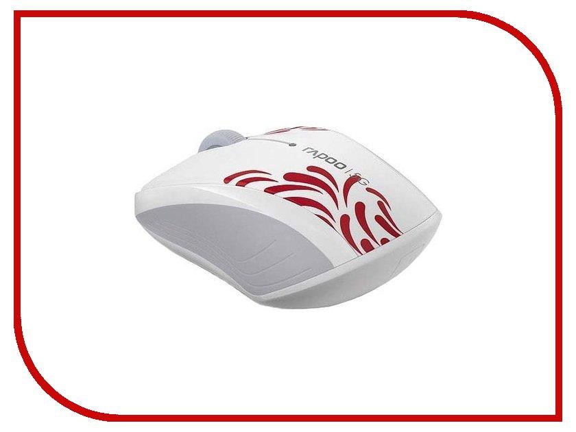 Мышь Rapoo 3100P White USB мышь rapoo n1162 белый