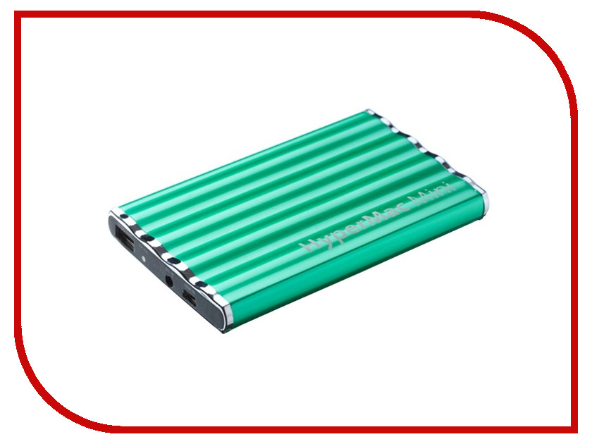 ����������� ����������� ������� HyperMac / HyperJuice Mini 7200mAh ��� iPhone / iPod / iPad Green