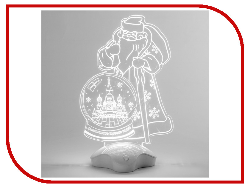Новогодний сувенир Подставка световая Luazon Дед Мороз, Москва 2446513 usb 3