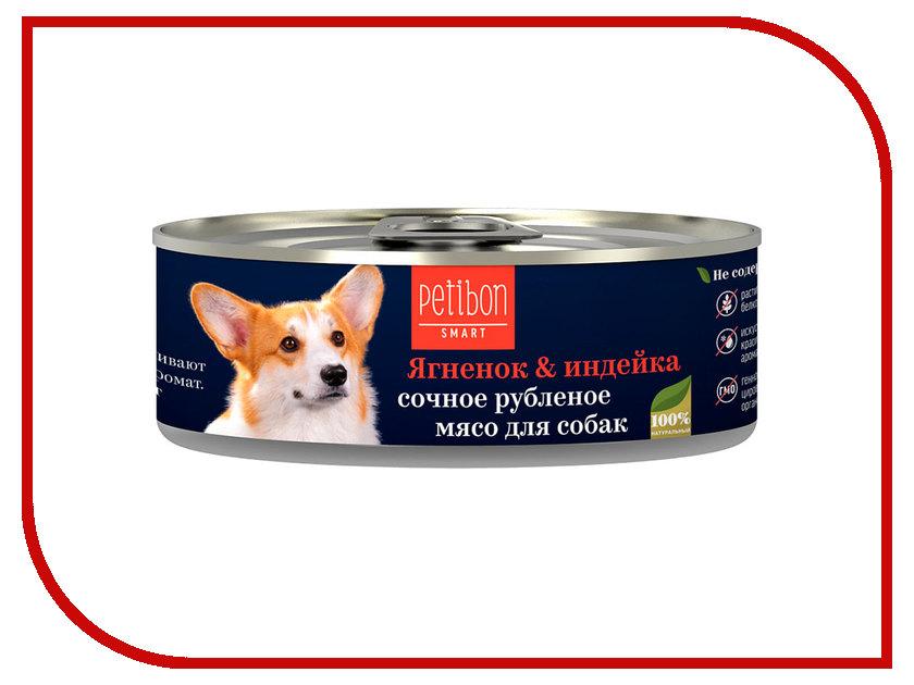 Корм Petibon Smart Рубленое мясо Ягненок Индейка 100g для собак