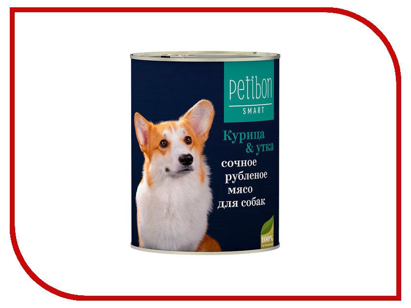 Корм Petibon Smart Рубленое мясо Курица Утка 410g для собак