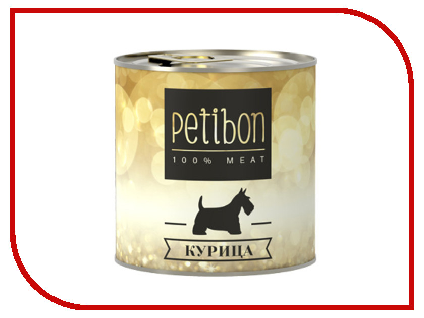 Корм Petibon 100% Meat Курица в желе 240g для собак