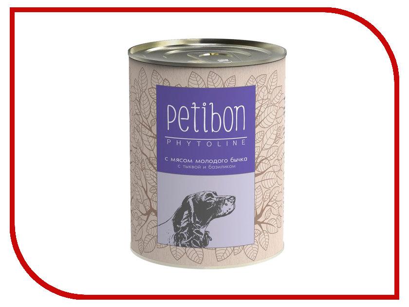 Корм Petibon Phytoline Мясо молодого бычка 340g для собак