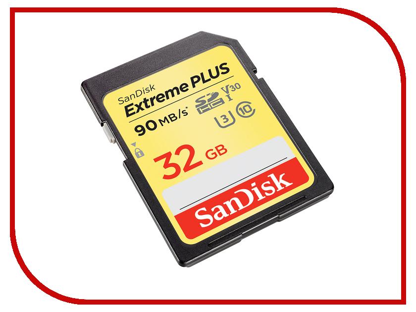 Карта памяти 32Gb - SanDisk Extreme Plus - Secure Digital HC Class 10 UHS-I U3 2-Pack SDSDXWF-032G-GNCI2