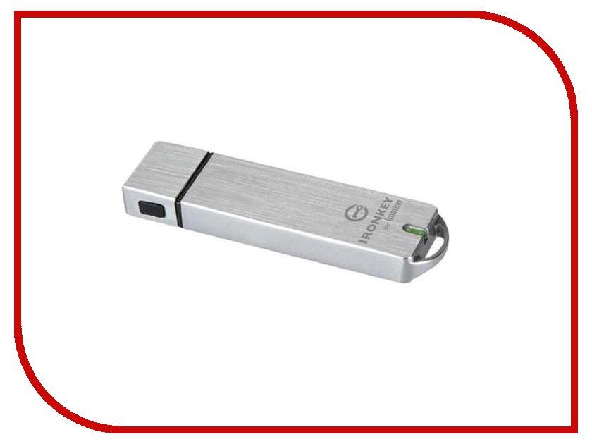 USB Flash Drive 16Gb - Kingston Ironkey Basic S1000 Encrypted USB 3.0 IKS1000B/16GB usb flash drive 16gb kingston ironkey d300 managed usb 3 0 ikd300m 16gb