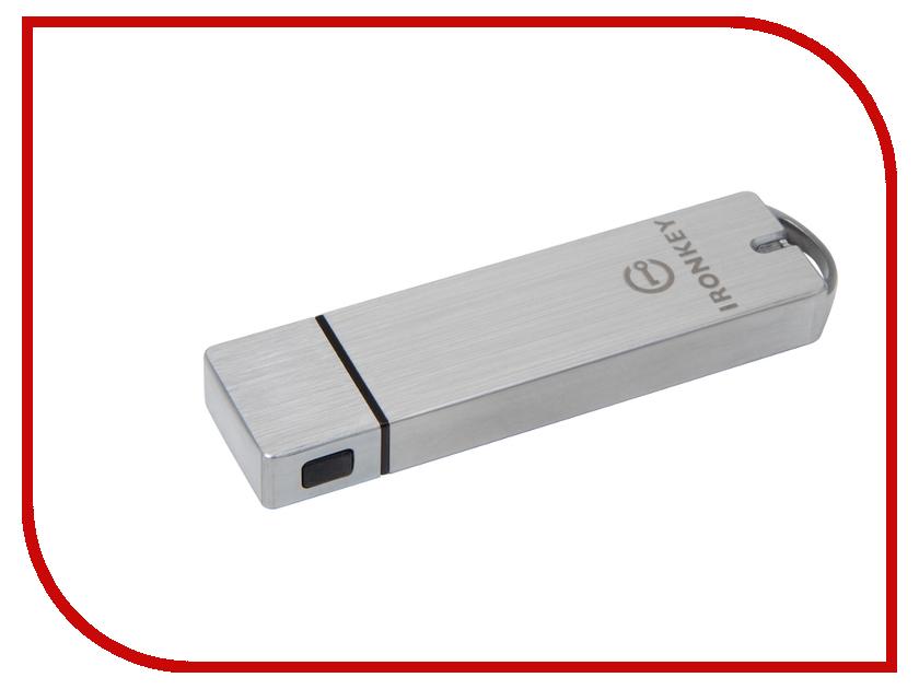 USB Flash Drive 8Gb - Kingston Ironkey Basic S1000 Encrypted USB 3.0 IKS1000B/8GB kingston hyperx savage usb 3 1 flash drive r w 350 250mb s 64 128 256 512gb