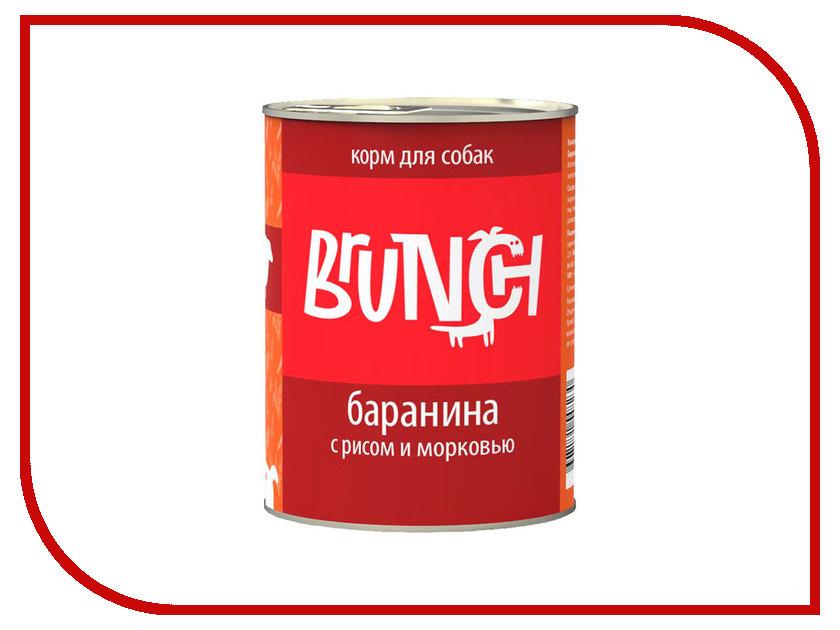Корм Brunch Баранина с рисом и морковью 340g для собак