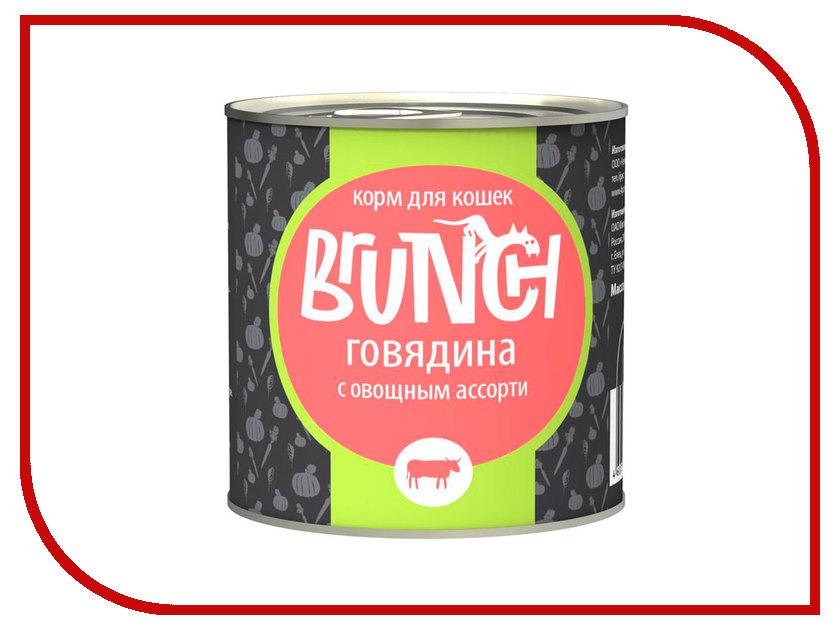 Корм Brunch Говядина с овощным ассорти 240g для кошек