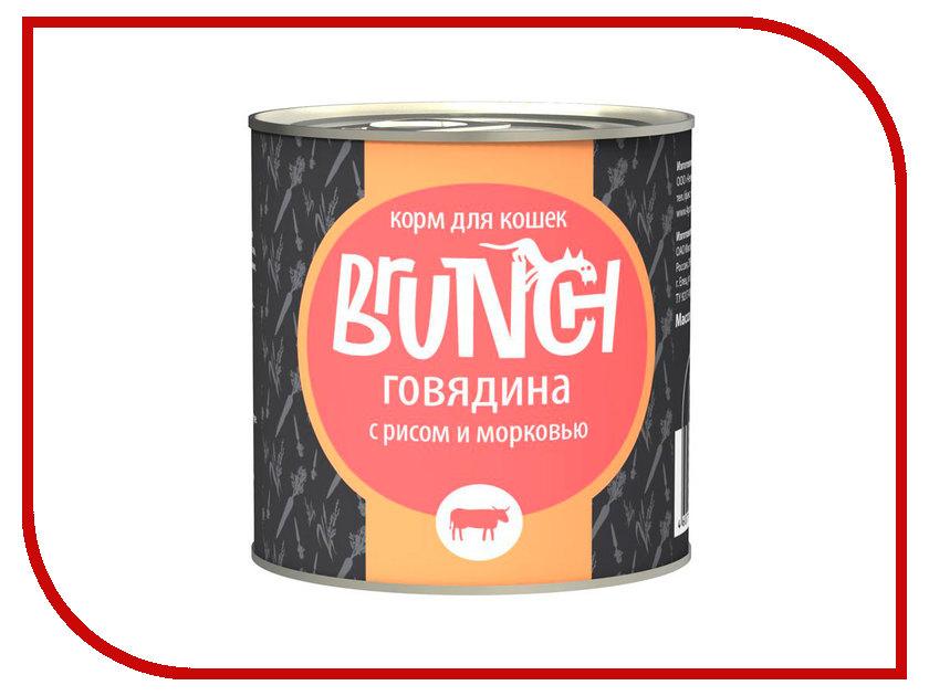 Корм Brunch Говядина с рисом и морковью 240g для кошек