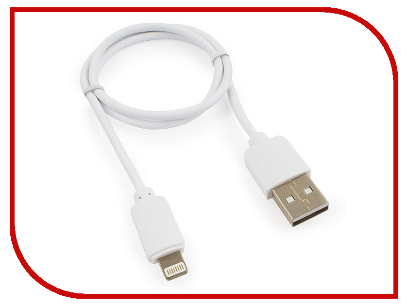 Аксессуар Гарнизон USB AM - Lightning 50cm White GCC-USB2-AP2-0.5M-W