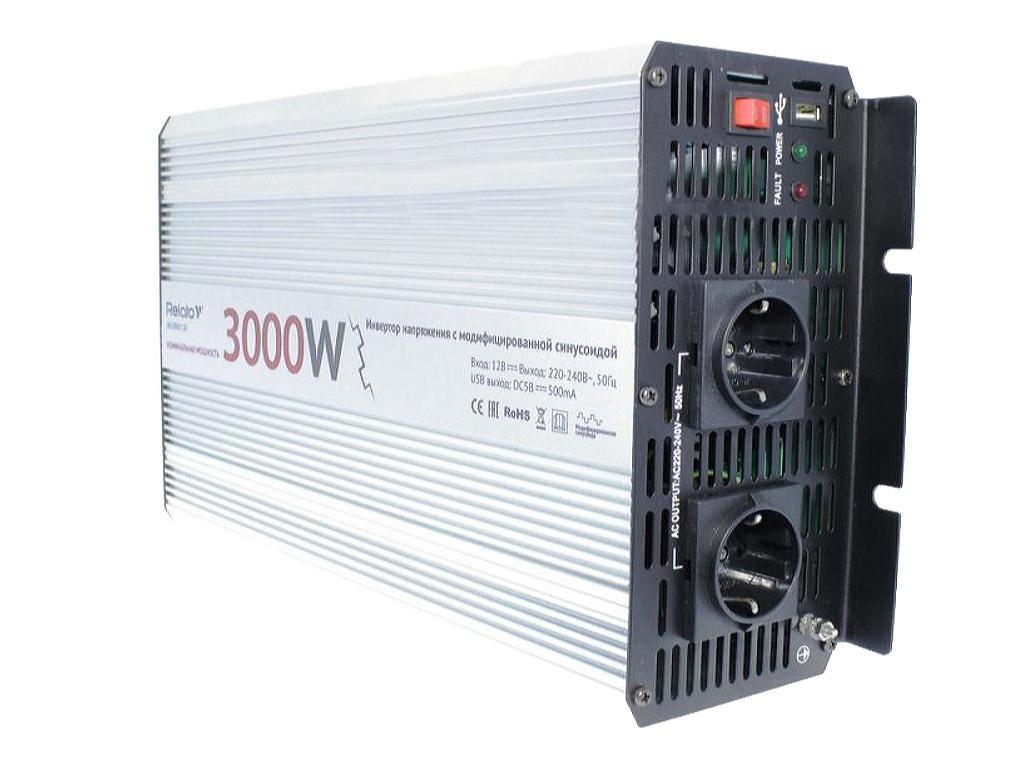 Автоинвертор Relato MS3000/12V (3000Вт) с 12В на 220В