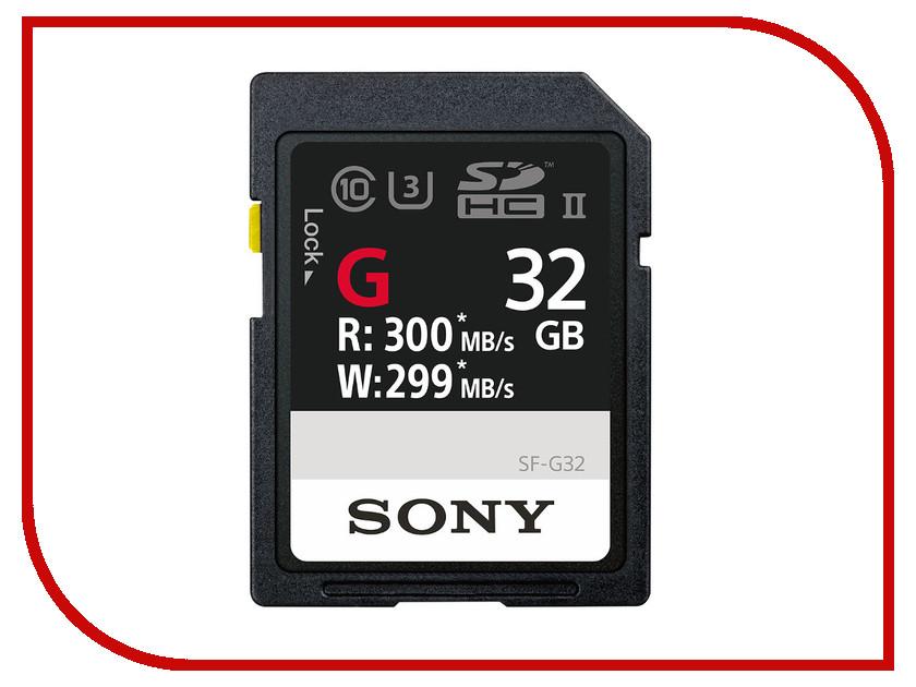 Карта памяти 32Gb - Sony Secure Digital HC UHS-II Class 10 SF-G32 лазерный нивелир уровень ada 6d servoliner а00139