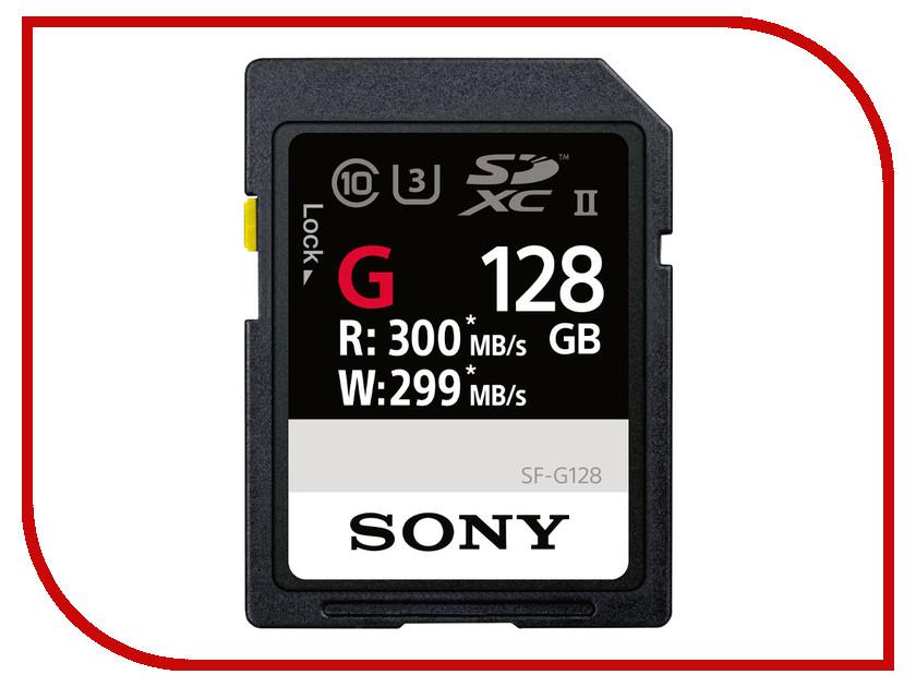 Карта памяти 128Gb - Sony Secure Digital XC UHS-II Class 10 SF-G128 карта памяти 128 гб sdxc sony sf g128 t1