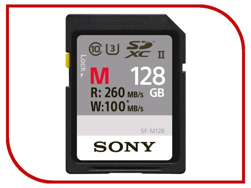 Карта памяти 128Gb - Sony Secure Digital XC UHS-II Class 10 SF-M128 карта памяти compactflash sony qd n64 j