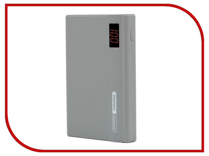 Аккумулятор Remax Linon Pro RPP-53 Power Bank 10000mAh Grey аккумулятор remax rpp 18 kingree power bank 10000mah gold