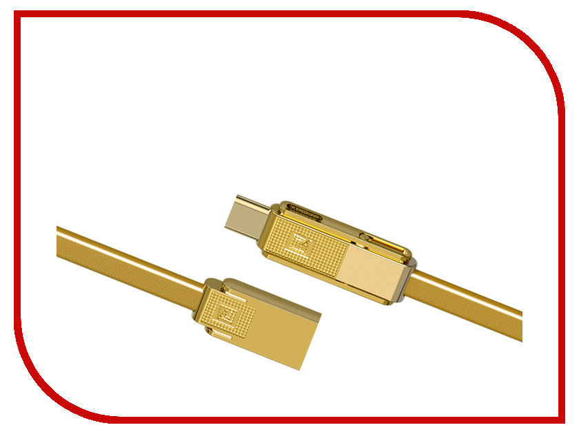 USB A/B/Micro/Mini/Type-C RC-070th  Аксессуар Remax RC-070th Gplex 3 in 1 MicroUSB / Lightning / Type-C Gold
