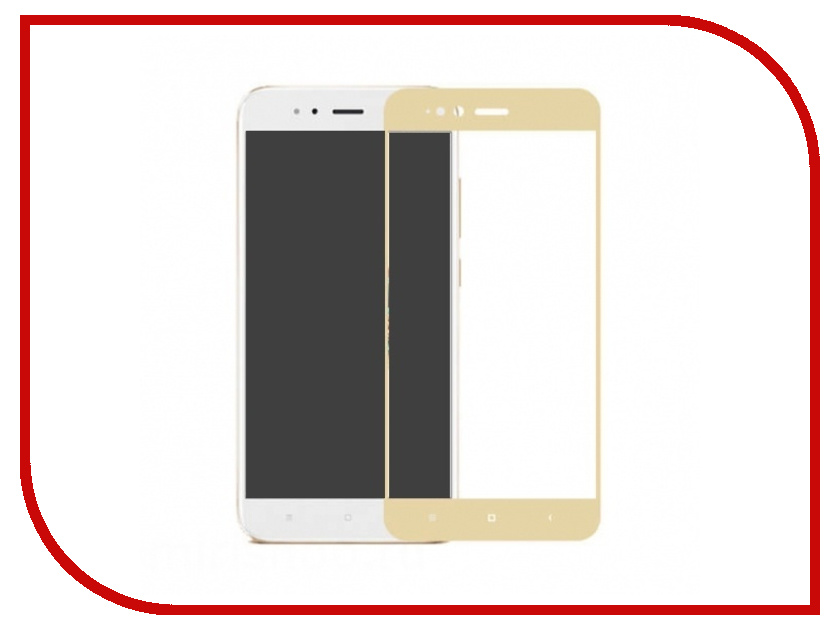 Аксессуар Защитное стекло для Xiaomi Mi A1 / Mi 5X Neypo Full Screen Glass Gold Frame NFG3330 with frame 15 6 for asus q551l q502l laptop touch screen glass replacement digitizer fp tpay15611a 01x