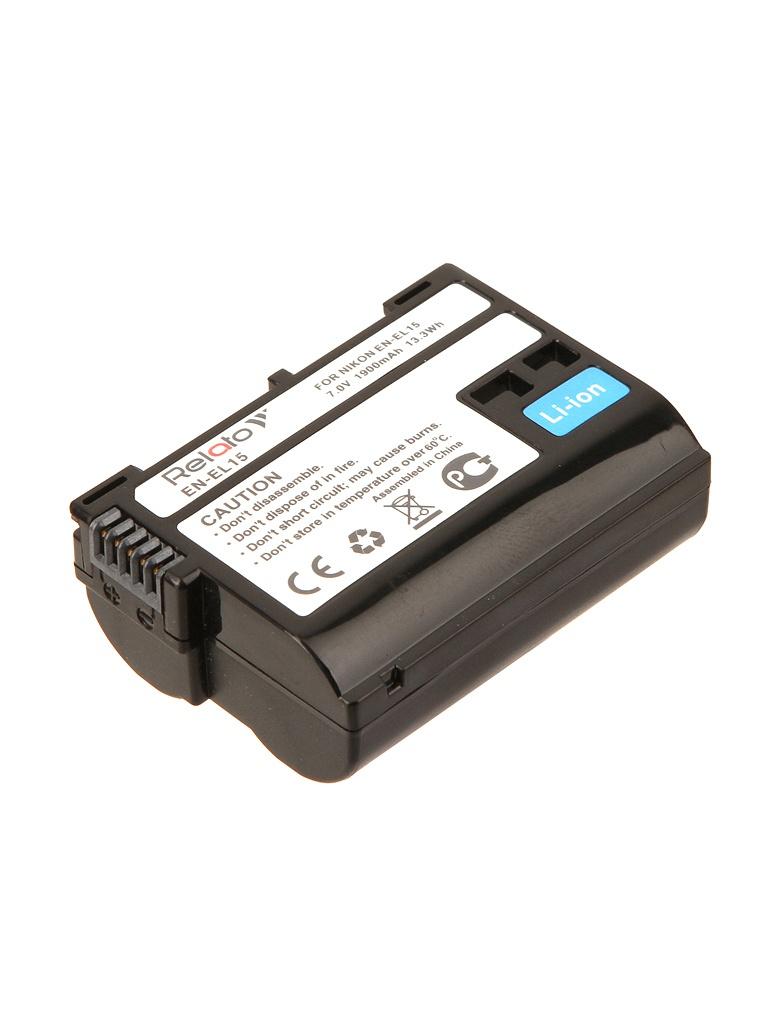 Аккумулятор Relato EN-EL15 для Nikon D500/D600/D750/D7000/D7100/D7200/D750/D800/D800E/D810/D810A/Nikov 1 V1 d7100
