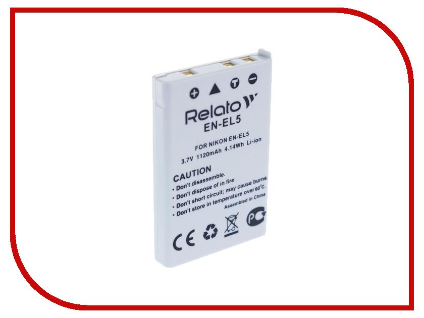 Аккумулятор Relato EN-EL5 для Nikon CoolPix 3700/4200/5200/5900/7900/P100/P3/P4/P50/P500/P5000/P510/P5100/P520/P530/P6000/P80/P90/S10 digicare pln el5 en el5