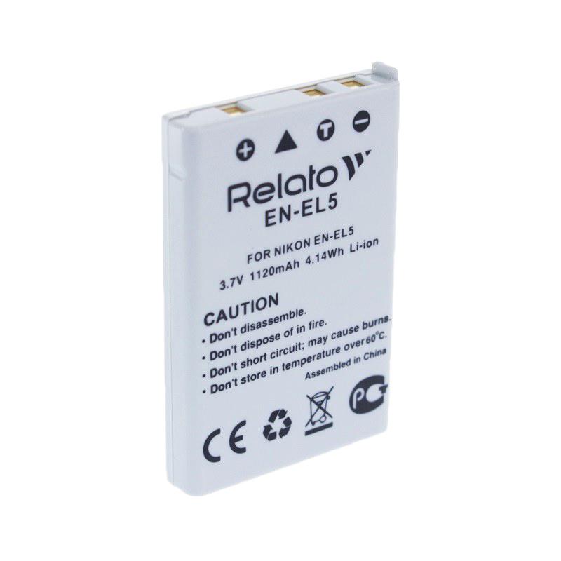 Аккумулятор Relato EN-EL5 для Nikon CoolPix 3700/4200/5200/5900/7900/P100/P3/P4/P50/P500/P5000/P510/P5100/P520/P530/P6000/P80/P90/S10