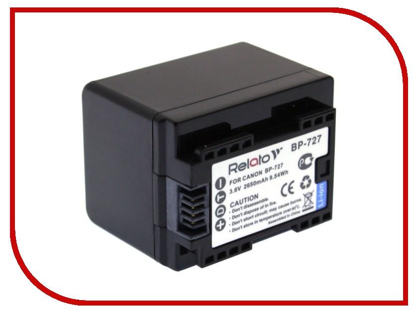 Аккумулятор Relato BP-727 для Canon Ivis HF M51/HF M52/HF R30/HF R31/HF R42 / LEGRIA HF M506/HF M52/HF M56/HF M60/HF R36/HF R37/HF R38/HF R306/HF R406/HF R46/HF R48 / VIXIA HF M50/HF M500/HF M52/HF R30/HF R300/HF R32/HF R40/HF R400/HF R42 new original hf mp73b 750w 3000r min with brake ac servo motor