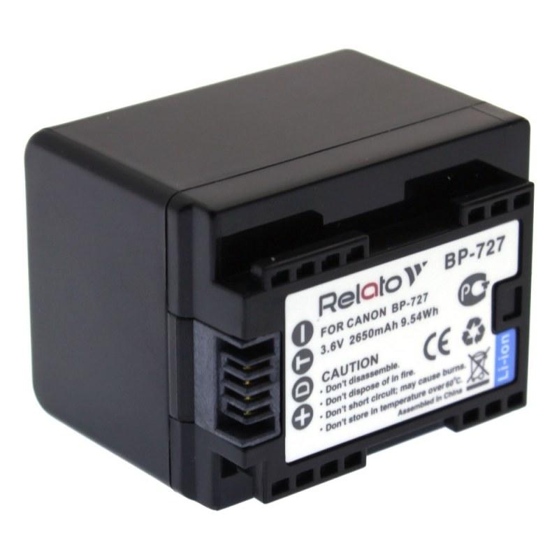 Аккумулятор Relato BP-727 для Canon Ivis HF M51/HF M52/HF R30/HF R31/HF R42 / LEGRIA M506/HF M56/HF M60/HF R36/HF R37/HF R38/HF R306/HF R406/HF R46/HF R48 VIXIA M50/HF M500/HF R300/HF R32/HF R40/HF R400/HF