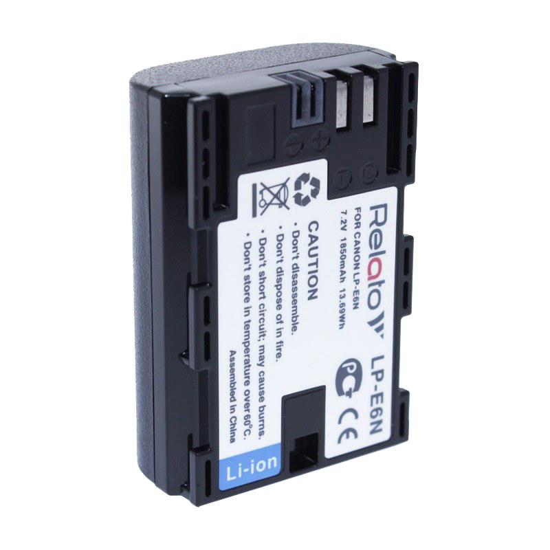 лучшая цена Аккумулятор Relato LP-E6N для Canon EOS 5D Mark II/EOS 5D Mark III/EOS 5DS/EOS 6D/EOS 60D/EOS 60Da/EOS 7D/EOS 70D