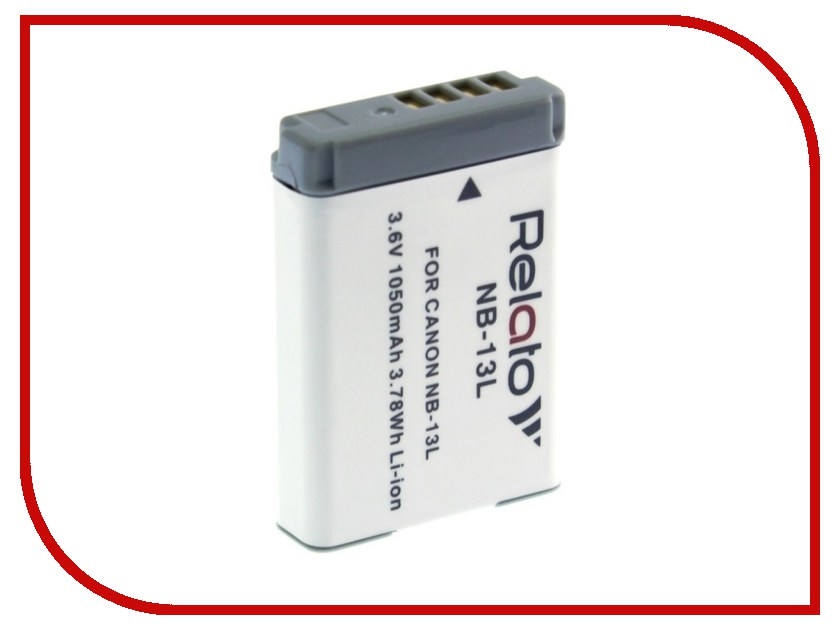 Аккумулятор Relato NB-13L для Canon PowerShot G5X/G7 X/G7 X Mark II/G9 X/SX720 HS canon powershot g9 x mark ii black цифровая фотокамера