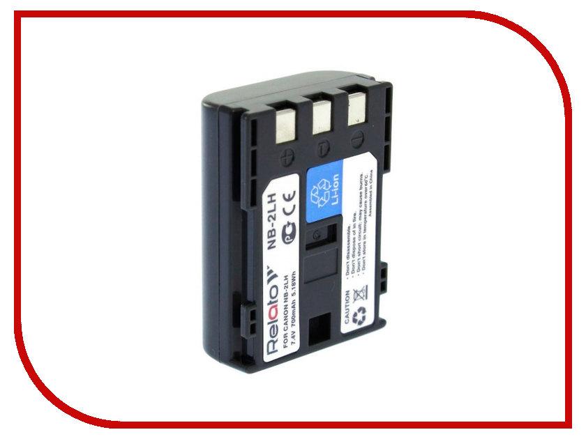 Аккумулятор Relato NB-2LH для Canon G7/G9/S30/40/45/50/60/70/80/EOS 350D/400D/Digital Rebel XT/MV-5i/5iMC/6iMC/790/800 series/900-series/MVX-200i/250i/300/330i/350i/20i/25i/30i/35i/40i/45i/MD100-series/MD200-series/HG10/HV20/HV30/DC301/DC310/DC311/DC320/DC330/DC410/D аккумулятор relato nb 7l для canon g10 g11 g12 sx30 is