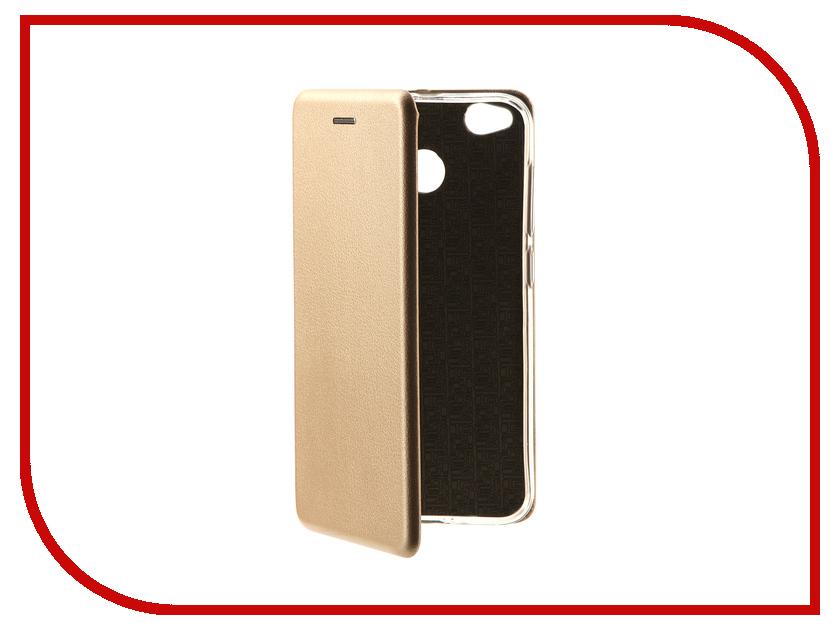 Аксессуар Чехол Xiaomi Redmi 4X Innovation Book Gold 10572