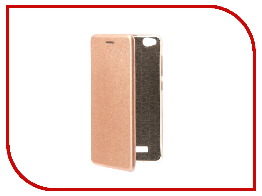 Аксессуар Чехол-книга Xiaomi Redmi 4A Innovation Book Pink Gold 10569 сотовый телефон xiaomi redmi 4a 2gb ram 16gb gold