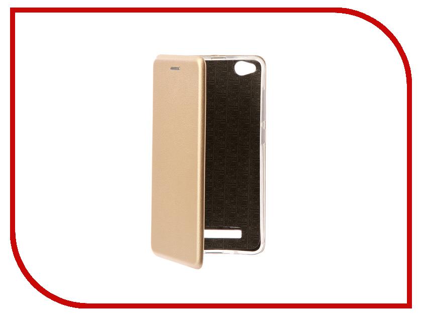 Аксессуар Чехол-книга Xiaomi Redmi 4A Innovation Book Gold 10568 сотовый телефон xiaomi redmi 4a 2gb ram 16gb gold